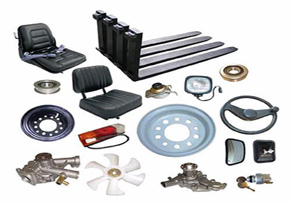 bunch of forklift parts
